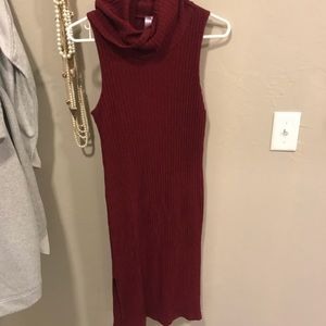 Boutique turtle neck midi dress